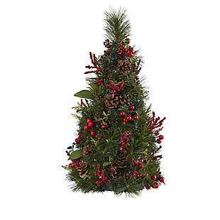 Sterling 2' Mixed Berry and Pine Cone Artificial Christmas Tree with 35 Clear LED Lights, , large