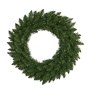 """Sterling 24"""" Green Pine Artificial Christmas Wreath with 35 Clear LED Lights, , large"""