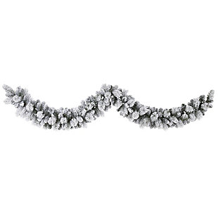 Sterling 9' Flocked Christmas Artificial Garland with 180 Bendable Branches, , large