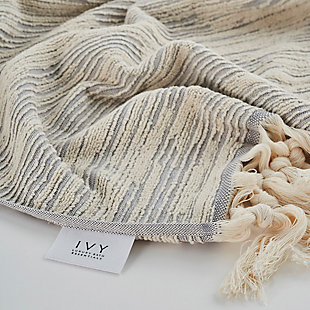 Ivy Luxury Maine Hand Towel Pack of 4 (Terra/Ecru), Terra/Ecru, large