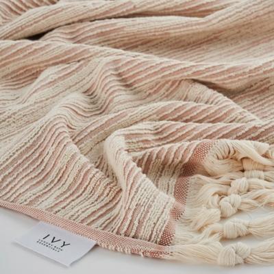 Ivy Luxury Maine Towel Set of 4 (Cloud/Ecru), Cloud/Ecru, large