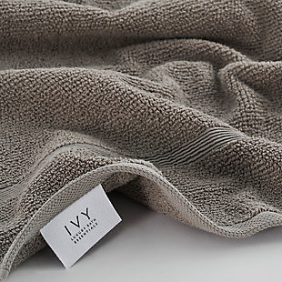 Ivy Luxury Rice Effect Turkish Aegean Cotton Towel Set of 6 (Elephant), Elephant, rollover