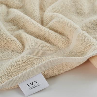 Ivy Luxury Rice Effect Turkish Aegean Cotton Towel Set of 6 (Ecru), Ecru, large