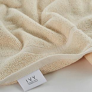 Ivy Luxury Rice Effect Turkish Aegean Cotton Washclosths Towel Pack of 6 (Ecru), Ecru, large