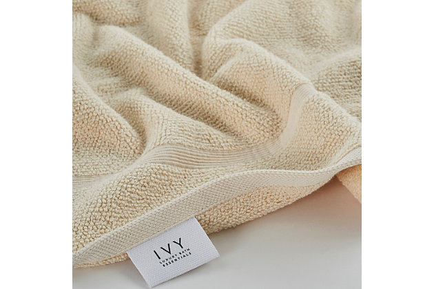Ivy Luxury Rice Effect Turkish Aegean Cotton Bath Towel Pack of 3 (Ecru), Ecru, large