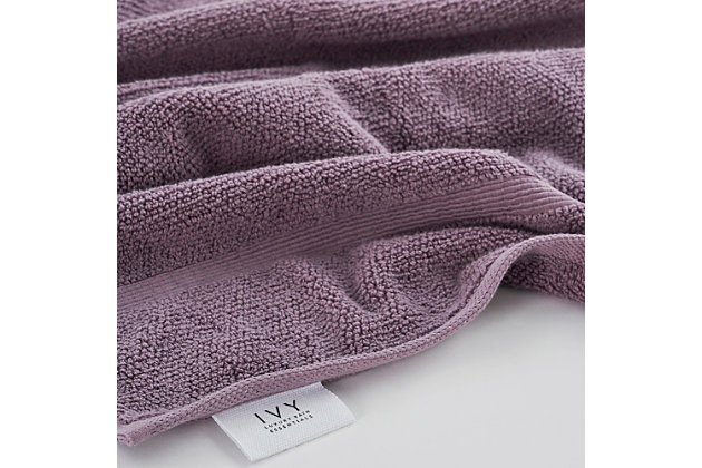 Ivy Luxury Rice Effect Turkish Aegean Cotton Bath Towel Pack of 3 (Heather), Heather, large