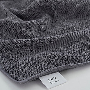 Ivy Luxury Rice Effect Turkish Aegean Cotton Bath Towel Pack of 3 (Storm Gray), Storm Gray, rollover