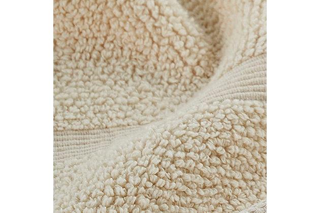 Ivy Luxury Rice Effect Turkish Aegean Cotton Bathsheet Towel Pack of 2 (Ecru), Ecru, large