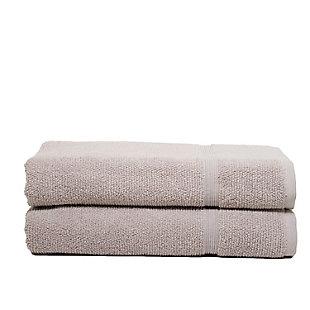 Ivy Luxury Rice Effect Turkish Aegean Cotton Bathsheet Towel Pack of 2 (Smoked Mauve), Smoked Mauve, large