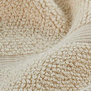 Ivy Luxury Rice Effect Turkish Aegean Cotton Towel Set of 16 (Ecru), Ecru, large