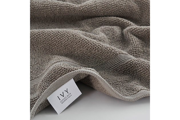 Ivy Luxury Rice Effect Turkish Aegean Cotton Towel Set of 16 (Elephant), , large