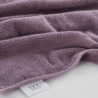Ivy Luxury Rice Effect Turkish Aegean Cotton Towel Set of 16 (Heather), Heather, large