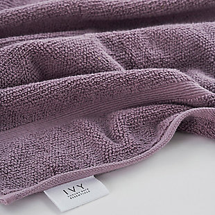 Ivy Luxury Rice Effect Turkish Aegean Cotton Towel Set of 16 (Heather), Heather, large