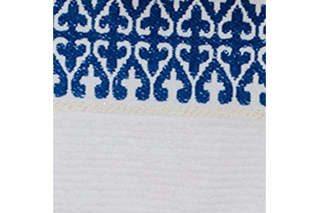 Ivy Luxury Bosphorus Jacquard Towel Set of 2 (Navy Blue), Navy Blue, large