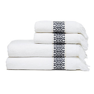 Ivy Luxury Bosphorus Jacquard Towel Set of 2 (Storm Gray), Storm Gray, large