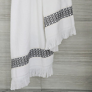Ivy Luxury Bosphorus Jacquard Towel Set of 2 (Storm Gray), Storm Gray, large