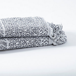 Ivy Luxury Ivy Hitit Bath Towel Pack of 2 (Gray/White), Gray/White, large