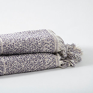 Ivy Luxury Ivy Hitit Bath Towel Pack of 2 (Heather/Ecru), Heather/Ecru, large