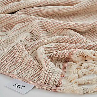 Ivy Luxury Ivy Maine Bath Towel Pack of 2 (Cloud/Ecru), Cloud/Ecru, rollover