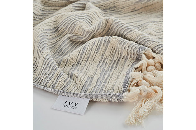 Ivy Luxury Ivy Maine Bath Towel Pack of 2 (Terra/Ecru), Terra/Ecru, large