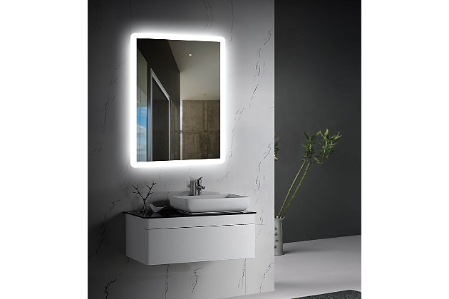 LTL Home Products Stratus LED Wall Mirror, , large