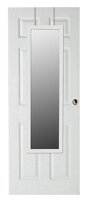 Over-the-Door Full Length Mirror, White, large
