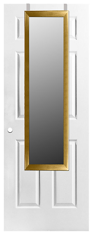 Over-the-Door Full Length Mirror, Gold, large