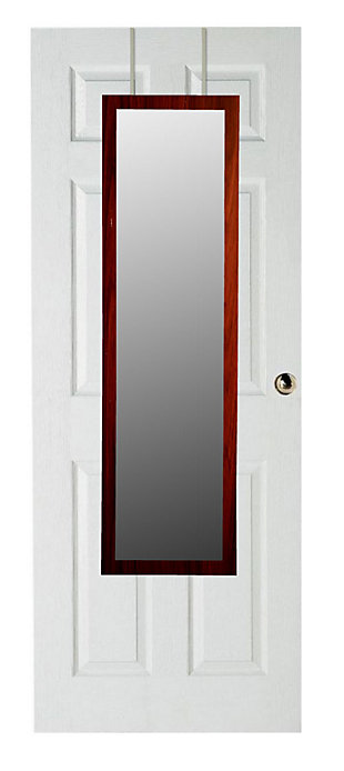 Over-the-Door Full Length Mirror, Mahogany, large