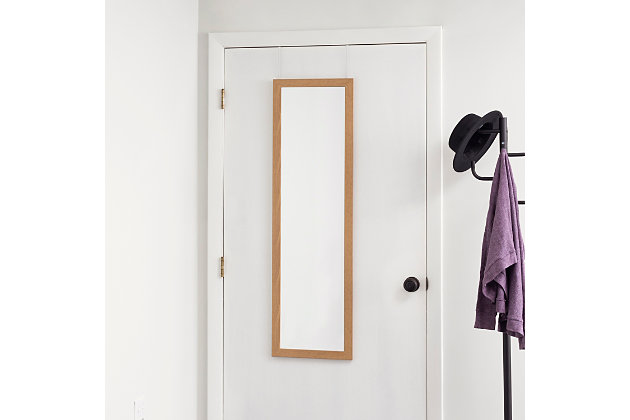 Over-the-Door Full Length Mirror, Natural, large