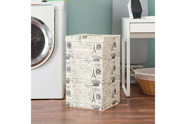 Postcards from Paris Laundry Hamper, , large