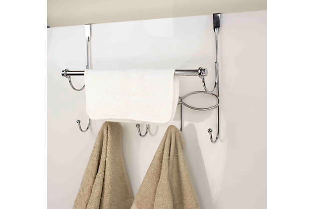 Over-the-Door Hanging Rack with Towel Bar, , large