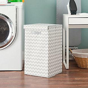 Home Basics Chevron Laundry Hamper, , rollover