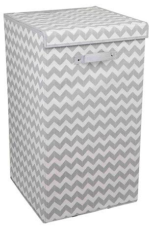 Home Basics Chevron Laundry Hamper, , large