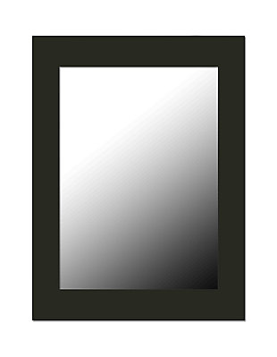 Contemporary Rectangle Wall Mirror, Black, large