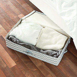 Contemporary Chevron Under-the-Bed Storage Box, , rollover