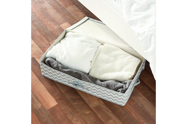 Contemporary Chevron Under-the-Bed Storage Box, , large