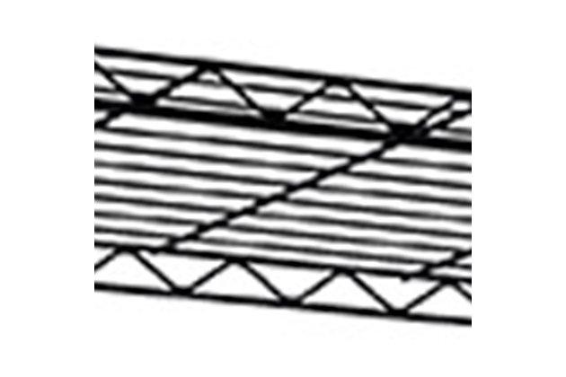 Multipurpose Four Tier Multipurpose Wire Shelf, Black, large