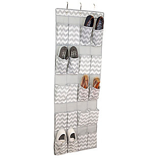 Over-the-Door Chevron 20 Pocket Over-the-Door Shoe Organizer, , large