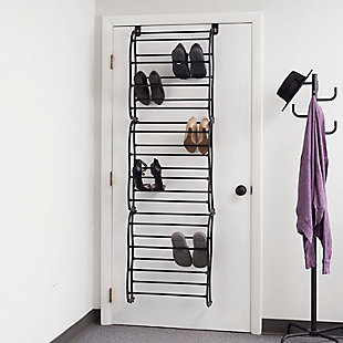 Over-the-Door 36 Pair Over the Door Shoe Rack, Black, rollover