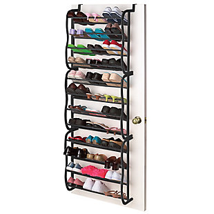 Over-the-Door 36 Pair Over the Door Shoe Rack, Black, large