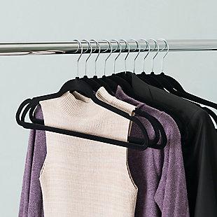 Contemporary Velvet Hangers (Set of 25), Black, large