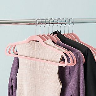 Contemporary Velvet Hangers (Set of 10), Pink, large