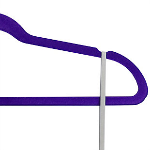 Contemporary Velvet Hangers (Set of 10), Purple, large