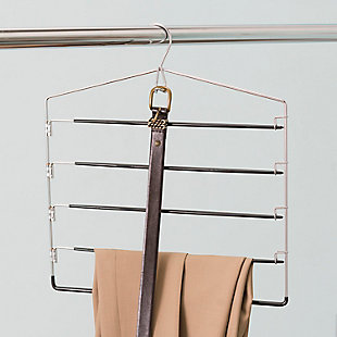 Contemporary Four Tier Non-Slip Trouser Hanger, , rollover