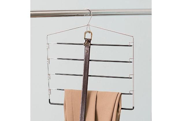 Contemporary Four Tier Non-Slip Trouser Hanger, , large