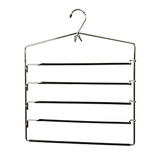 Contemporary Four Tier Non-Slip Trouser Hanger, , large
