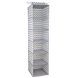 Contemporary Chevron 6 Shelf Closet Organizer, , large
