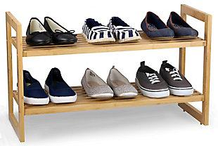 Contemporary Bamboo Shoe Rack, , large