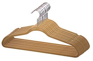 Contemporary Velvet Hangers (Set of 10), Camel, large
