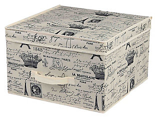 Postcards from Paris Medium Storage Box, , large